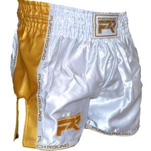 Punch Round™  Punch Round™ Kickboks Broekje Carbon Wit Goud