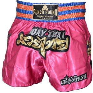 Punch Round™  Punch Round™ Thaiboks Broekje Flower Pink MT11