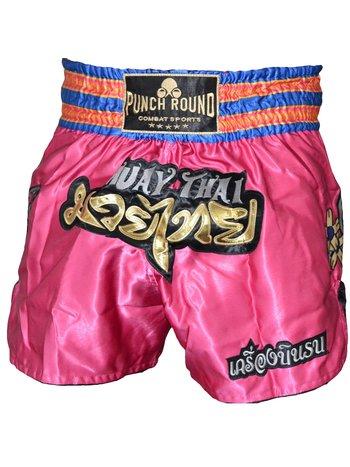 PunchR™  Punch Round™ Thaiboks Broekje Flower Pink MT11