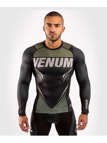 Venum Venum ONE FC Impact Rashguard Long Sleeves Black Khaki