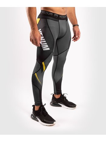 Venum Venum ONE FC Impact Compression Tights Legging Grey Yellow