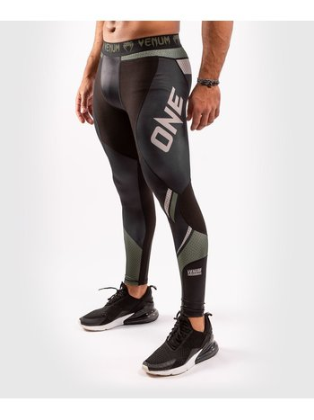 Venum Venum ONE FC Impact Compression Tights Spats Black Khaki