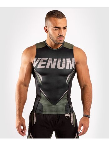 Venum Venum ONE FC Impact Sleeveless Rashguard Black Khaki