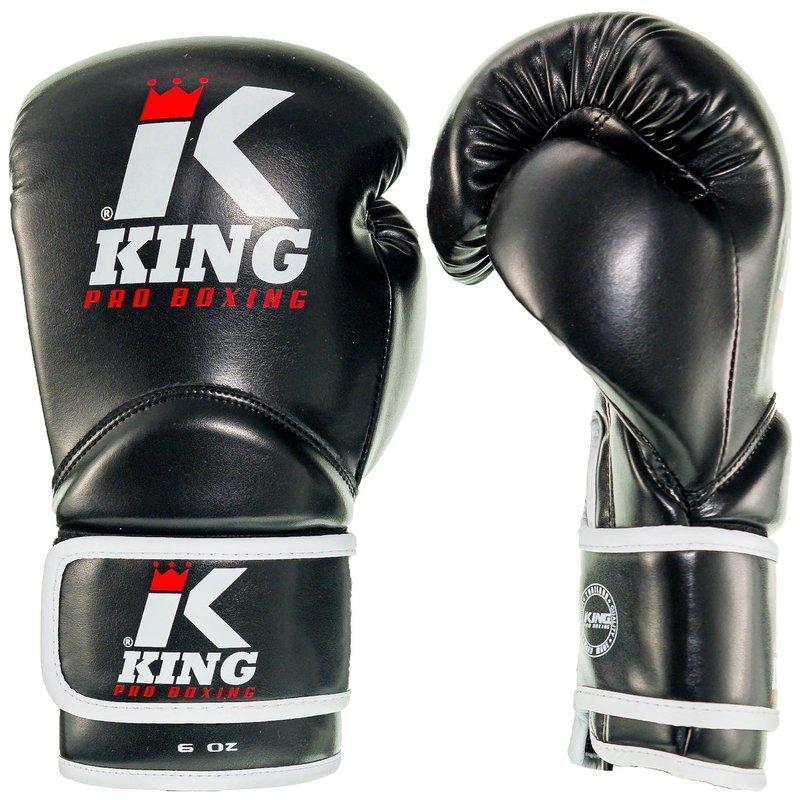 King Pro Boxing King Pro Boxing Kinder KPB/BG 1 Boxing Gloves Black White Red