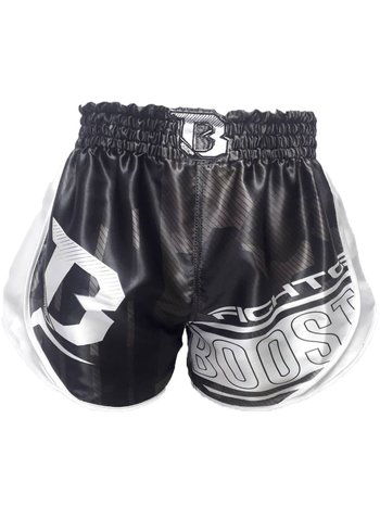 Booster Booster Kickboxing Shorts B Force 1 Muay Thai Short Black White