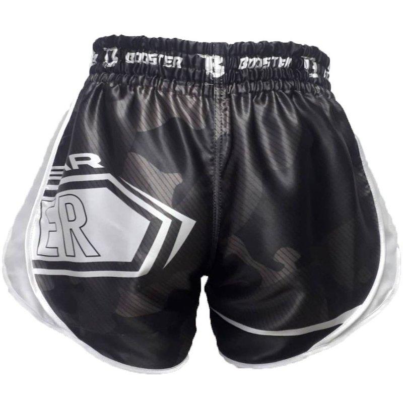 Booster Booster Kickboxing Shorts B Force 1 Muay Thai Short Black White