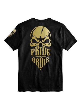 Pride or Die Pride or Die T Shirt Reckless Zwart Goud