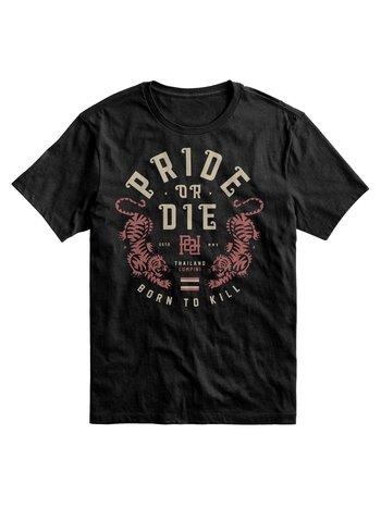Pride or Die Pride or Die T Shirt Born to Kill Zwart
