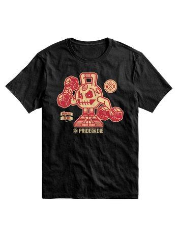 Pride or Die Pride or Die T Shirt Workout or Die Zwart