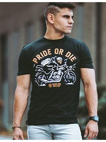 Pride or Die Pride or Die T Shirt Never Miss Zwart