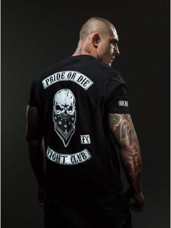 Pride or Die PRiDEorDiE FIGHT CLUB T Shirt Zwart