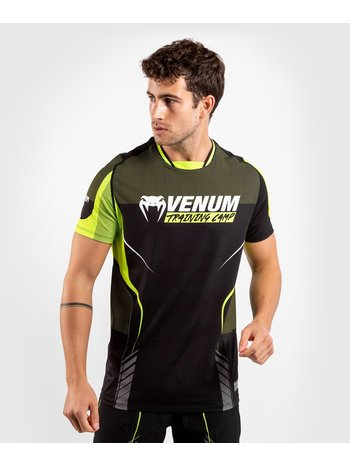 Venum Venum Training Camp 3.0 Dry Tech T-shirt Zwart Geel