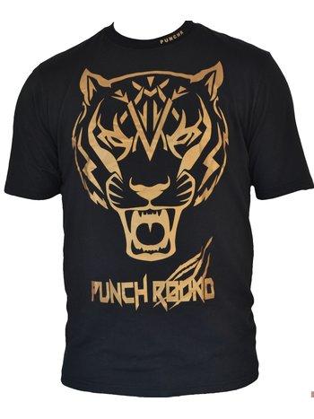 PunchR™  Punch Round Tiger Razor Shirt Kids Zwart Goud