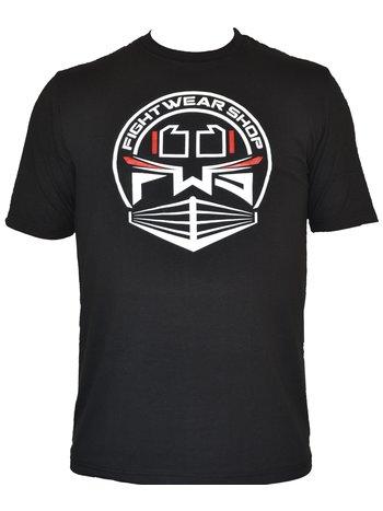 Fightwear Shop Fightwear Shop Ring Logo T Shirt Zwart Wit Rood