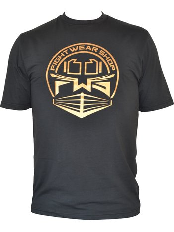 Fightwear Shop Fightwear Shop Ring Logo T Shirt Kids Black Gold