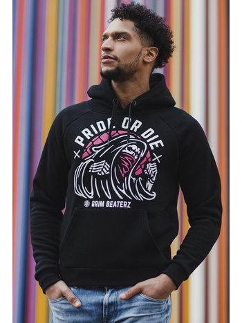 Pride or Die Pride or Die Hoody Sweater Grim Beaterz Black