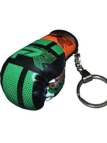 PunchR™  Punch Round Boxing Glove Keyring Camo Green Orange
