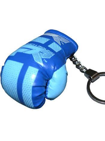 PunchR™  Punch Round Boxing Glove Keyring Blue White