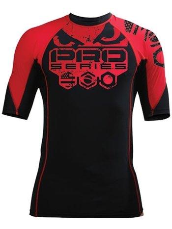 Bad Boy Bad Boy Grinder 2 Solid Rash Guard S/S Black Red