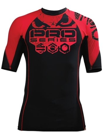 Bad Boy Bad Boy Grinder 2 Solid Rash Guard S/S Zwart Rood