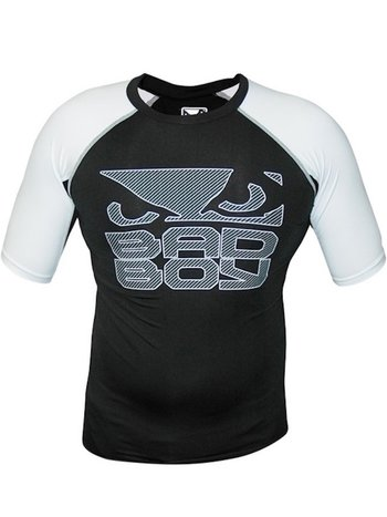 Bad Boy Bad Boy Engage Rash Guard S / S Zwart Wit