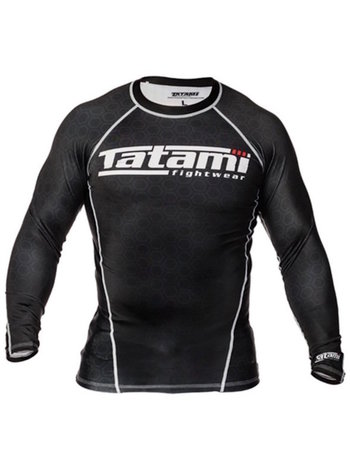Tatami Fightwear Tatami BJJ Fightwear L/S IBJJF Rash Guards Zwart