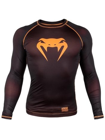 Venum Venum Contender 3.0 Compression T Shirts L/S Black Orange