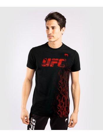UFC UFC Venum Authentic Fight Week Performance T-shirt Zwart Rood