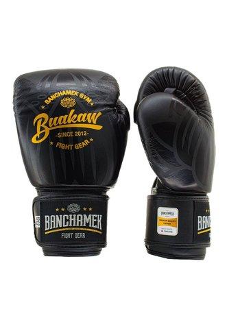Buakaw Buakaw Benchamek Boxhandschuhe Schwarzes Leder