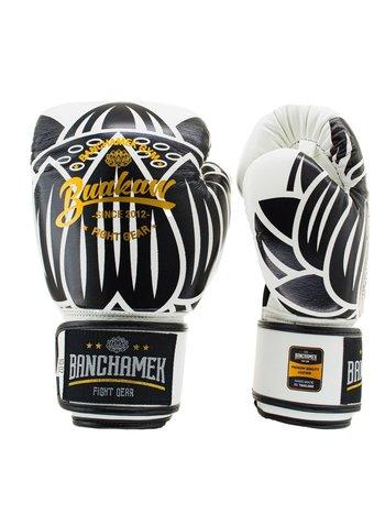 Buakaw Buakaw Benchamek Boxing Gloves White Leather