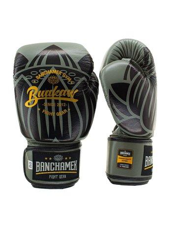 Buakaw Buakaw Benchamek Boxhandschuhe Grün Leder