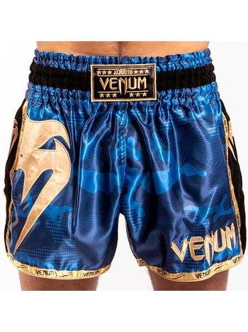Venum Venum Giant Camo Muay Thai Kickbox Shorts Blau Gold
