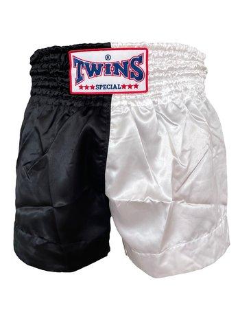 Twins Special Twins Muay Thai Kickboxing Hose TTE 005 Schwarz Weiß