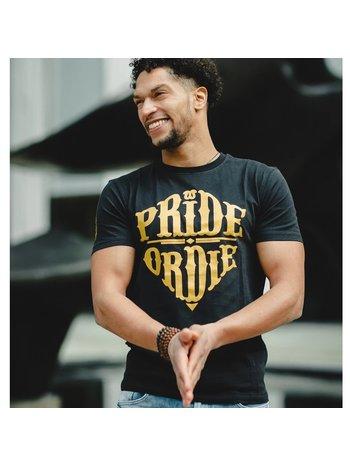 Pride or Die PRiDEorDiE T-Shirt Reckless Schwarz Gold