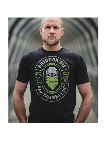 Pride or Die Pride or Die T Shirt Raw Training Camp V2 Zwart