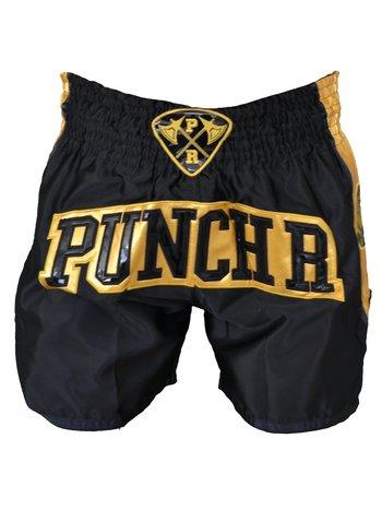 PunchR™  PunchR Muay Thai Kickboks Broek Zwart Goud