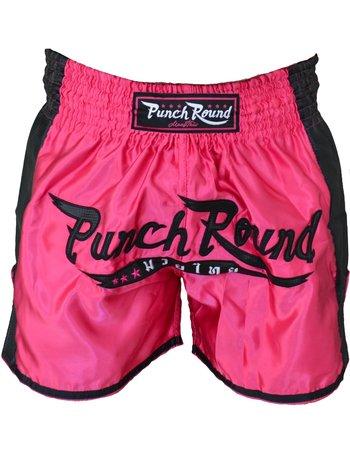 PunchR™  Punch Round™ FTX Muay Thai Short Rosa Schwarz