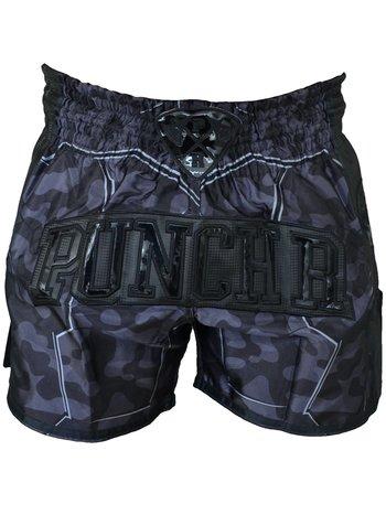 PunchR™  PunchR Kickboxing Short Urban Camo Schwarz von Punch Round™