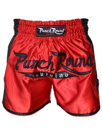 PunchR™  Punch Round™ FTX Muay Thai Short Red Black