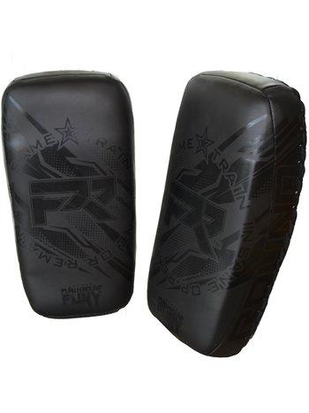 PunchR™  PunchR™ Train Insane Curved Thai Pads Arm Kick Pads NT Zwart op Zwart