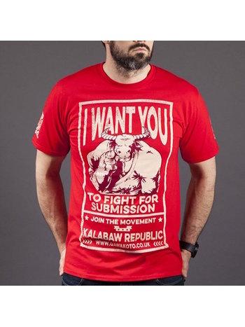 Gawakato Gawakoto Kalabaw Republic T Shirt Red