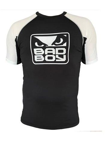 Bad Boy Bad Boy Rash Guard S/S Black White