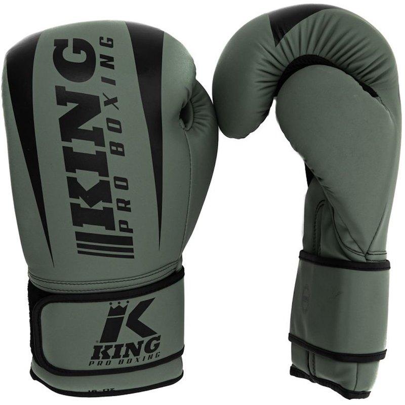King Pro Boxing King Pro Boxing KPB/REVO 5 Boxing Gloves Khaki Green Black