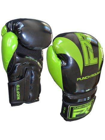 """PunchR™  Punch Round """"SLAM"""" Boxhandschuhe Schwarz Grün"""
