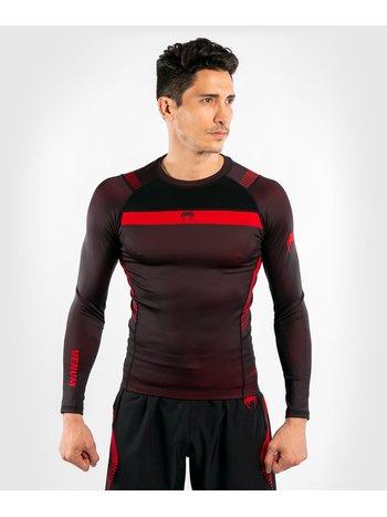 Venum Venum No Gi 3.0 L/S Rash Guard Black Red BJJ Clothing