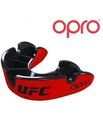 UFC OPRO UFC Mundschutz Silber Rot Schwarz Jugend bis 10Jahre