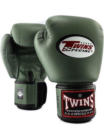 Twins Special Twins (Kick) Boxhandschuhe BGVL 3 Militär Grün