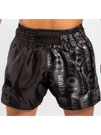 Venum Venum Logos Muay Thai Shorts Black Black