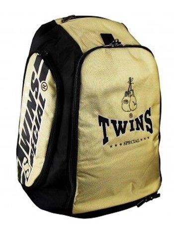 Twins Special Twins Sporttas Rugtas Gym Bag CBBT 2 Goud Zwart