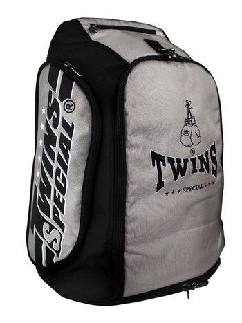 Twins Special Twins Sporttas Rugtas Gym Bag CBBT 2 Zilver Zwart